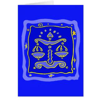 Blaue Waage Karte