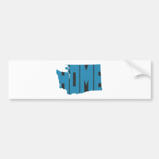 Blaue Washington-Staat Zuhause-Wort-Kunst Autoaufkleber