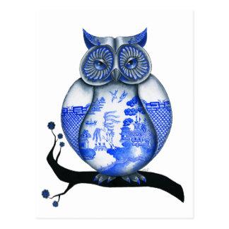 Blaue Weide-Eule Postkarte