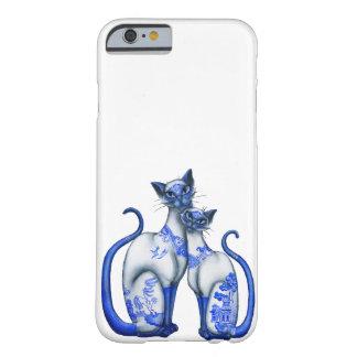 Blaue Weide-siamesische Katzen Barely There iPhone 6 Hülle