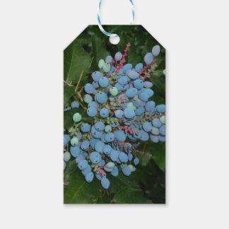 Blaue Weihnachtsbeeren-Geschenk-Verpackung Geschenkanhänger