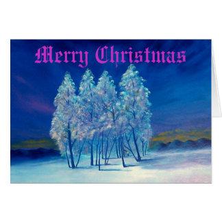 Blaue Weihnachtsgruß-Karte #4