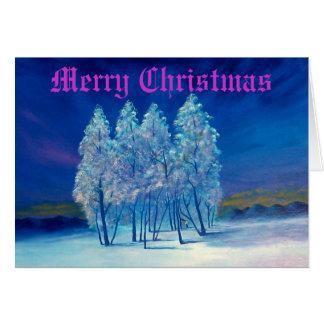 Blaue Weihnachtsgruß-Karte #4 Grußkarte