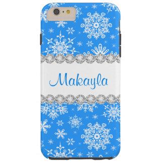 Blaue Weihnachtsschneeflocken starke iPhone 6 Tough iPhone 6 Plus Hülle