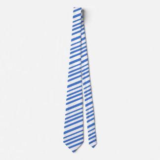 Blaue weiße Diagonale Stripes die Mode der Krawatte