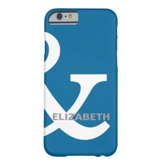 Blaue weiße Etzeichen-Liebhaber-Namen, die nach Barely There iPhone 6 Hülle