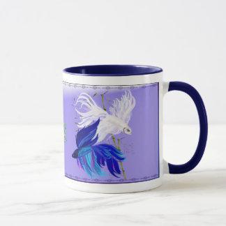 """Blaue weiße siamesische kämpfende Fisch-Tassen """"n"""" Tasse"""