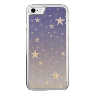 Blaue weiße Sternchen-Vereinbarung der Steigung Carved iPhone 8/7 Hülle