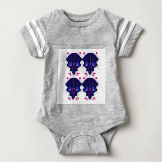Blaue weiße Verzierungen Volks Baby Strampler