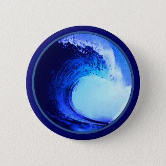 blaue Welle der coolen Brandungsart Runder Button 5,7 Cm