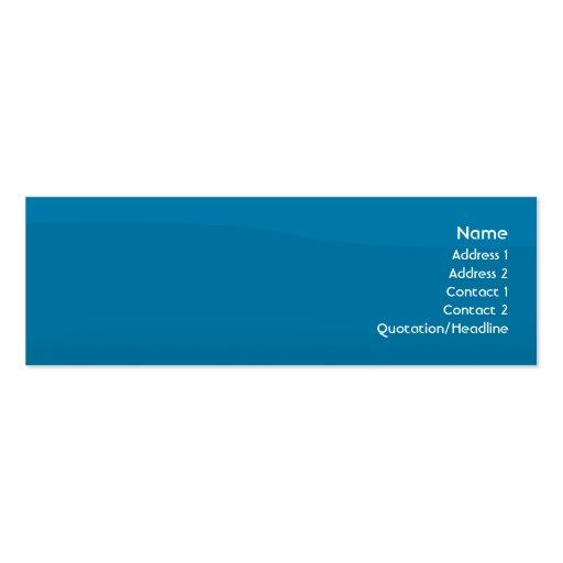 Blaue Welle - dünn Visitenkarten Vorlage