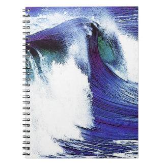 Blaue Welle Notizblock