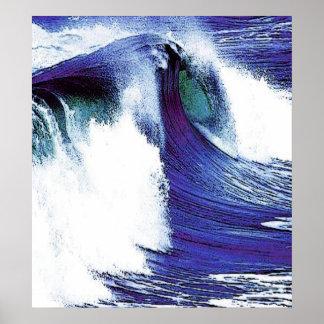 Blaue Welle Poster