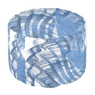 Blaue Wellen Hocker