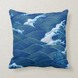 Blaue Wellen Kissen