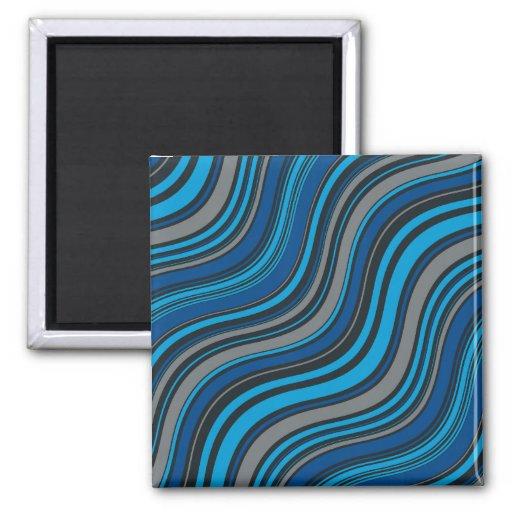 Blaue Wellen Kühlschrankmagnet