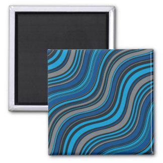 Blaue Wellen Quadratischer Magnet