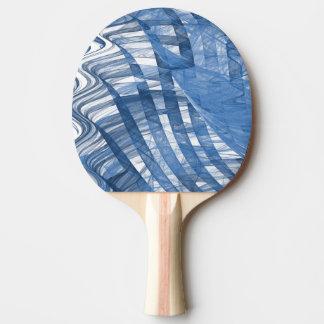 Blaue Wellen Tischtennis Schläger