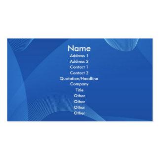 Blaue Wellen Visitenkarten Vorlage