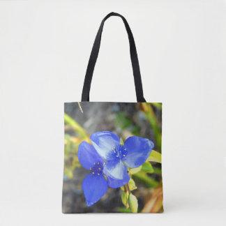 Blaue Wildblume-Taschen-Tasche Tasche