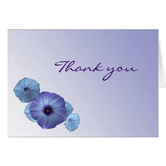 Blaue Winde danken Ihnen zu kardieren Karte