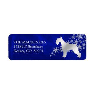 Blaue Winterschnauzer-Rücksendeadresse