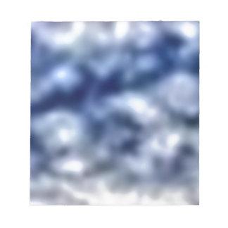 Blaue Wolken Notizblock