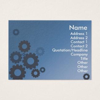 Blaue Zähne - mollig Visitenkarte