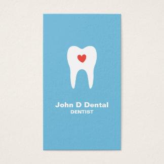 Blaue zahnmedizinische Zahnarzt-Visitenkarte des Visitenkarte