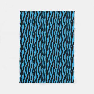Blaue Zebra-Druck-Fleece Fleecedecke