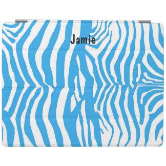Blaue Zebra-Druck iPad Abdeckung iPad Smart Cover