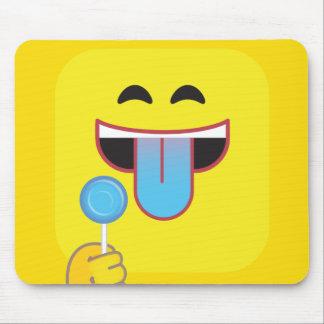 Blaue Zunge Emoji Mousepad
