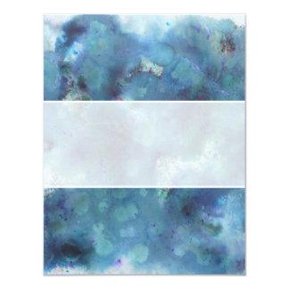 Blaue Zusammenfassung 10,8 X 14 Cm Einladungskarte