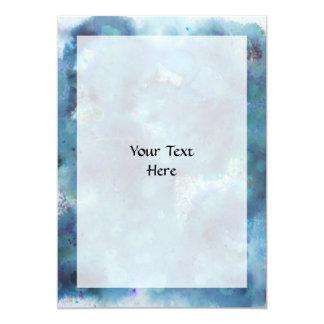 Blaue Zusammenfassung 12,7 X 17,8 Cm Einladungskarte