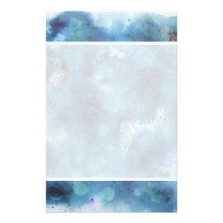 Blaue Zusammenfassung Flyerdruck