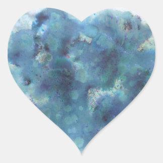 Blaue Zusammenfassung Herz-Aufkleber
