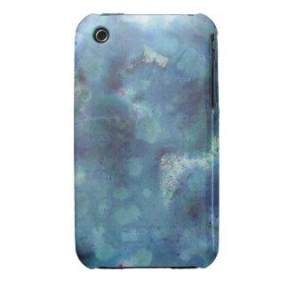 Blaue Zusammenfassung iPhone 3 Hülle