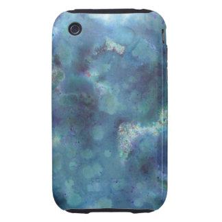 Blaue Zusammenfassung iPhone 3 Tough Hüllen