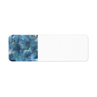 Blaue Zusammenfassung Kleiner Adressaufkleber