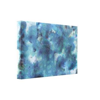 Blaue Zusammenfassung Gespannter Galerie Druck