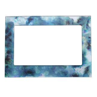 Blaue Zusammenfassung Magnet-Bilderrahmen