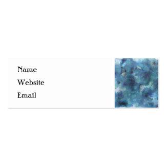 Blaue Zusammenfassung Mini-Visitenkarten