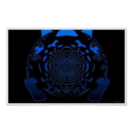Blaue Zusammenfassung Posterdrucke