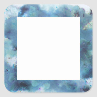 Blaue Zusammenfassung Quadrat-Aufkleber