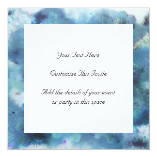 Blaue Zusammenfassung Quadratische 13,3 Cm Einladungskarte
