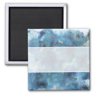 Blaue Zusammenfassung Quadratischer Magnet