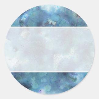 Blaue Zusammenfassung Runder Aufkleber