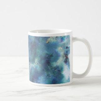 Blaue Zusammenfassung Tasse
