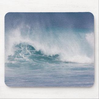 Blaue zusammenstoßende Welle, Maui, Hawaii, USA 3 Mauspads