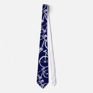 blaue Zyklus-Krawatte für Fahrradliebhaber Krawatte